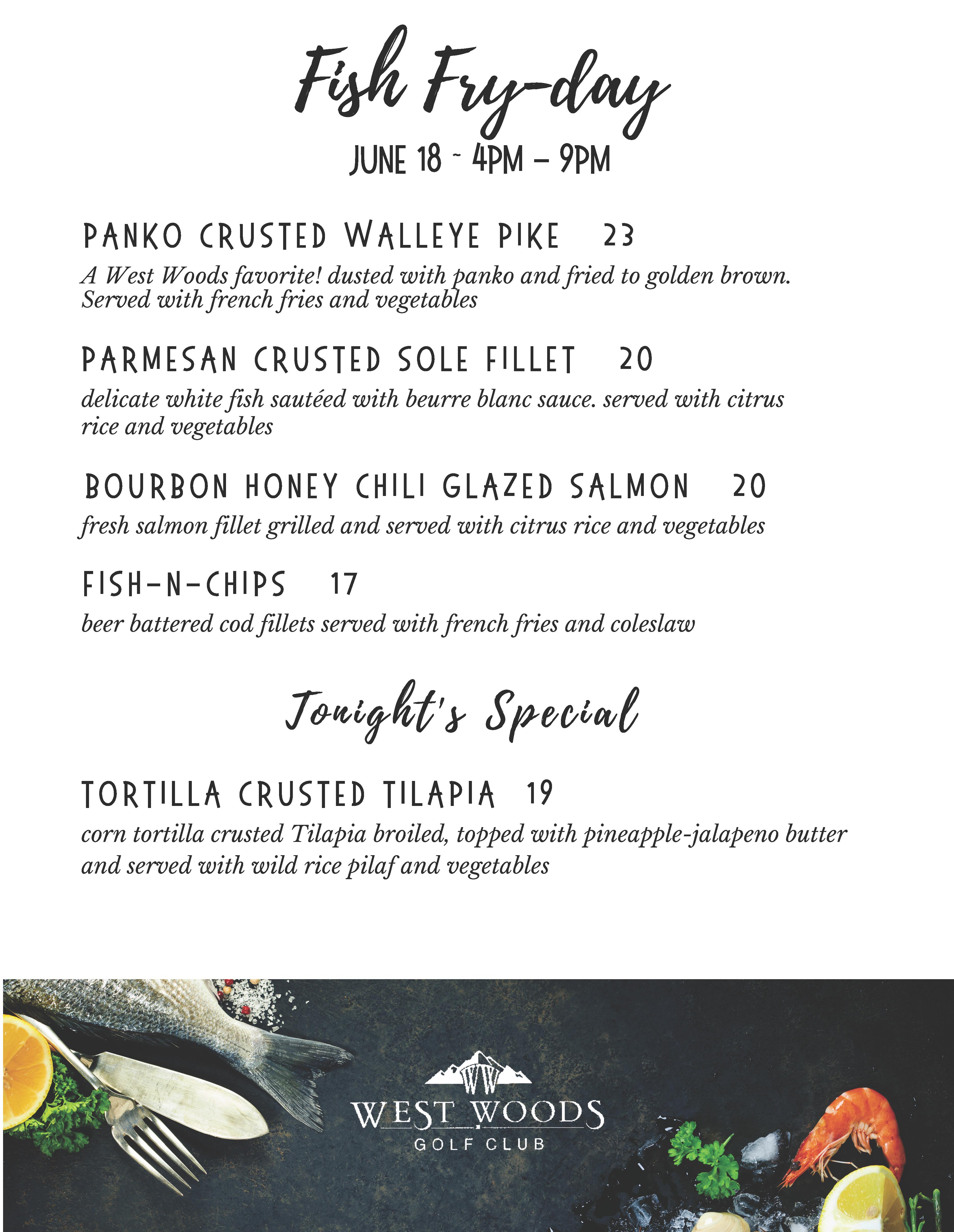06.18 Fish Fry day menu